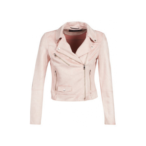 Vero Moda VMTILLA women's Leather jacket in Pink