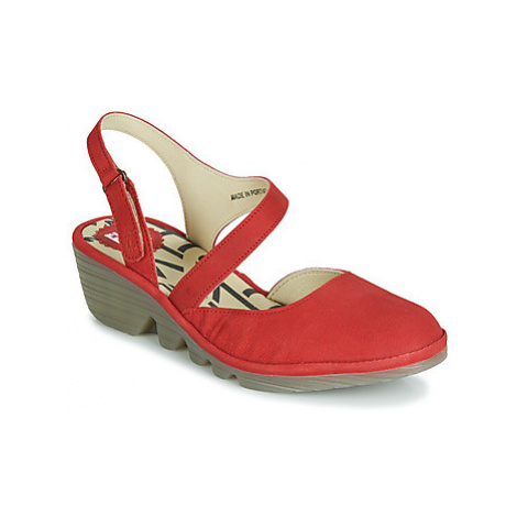 Fly London PELE women's Court Shoes in Red