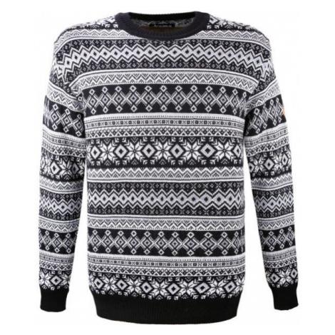 Kama MERINO SWEATER 4057 black - Knitted pattern sweater