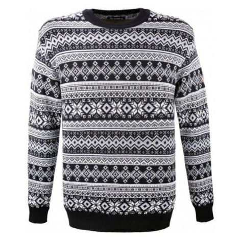 Kama MERINO SWEATER 4057 white - Knitted pattern sweater