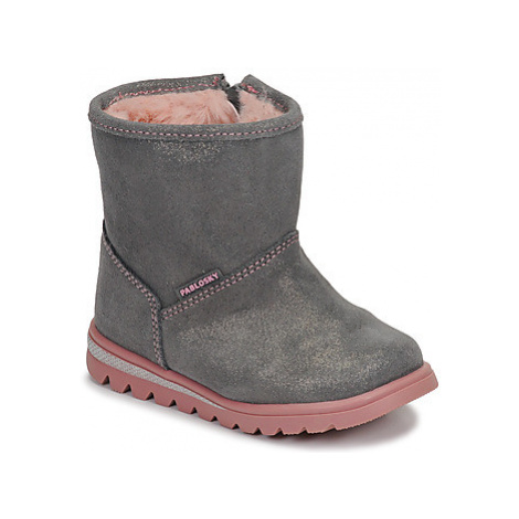 Brown girls' winter shoes