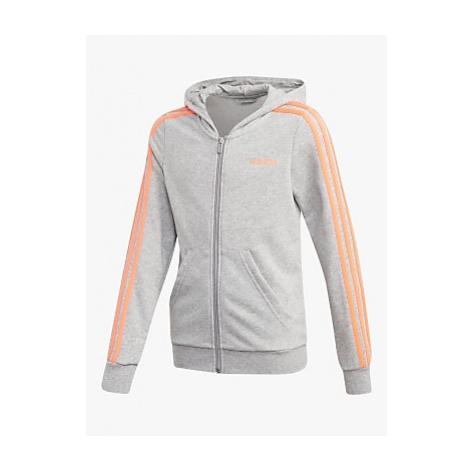 Adidas Boys' Logo Zip Hoodie, Grey