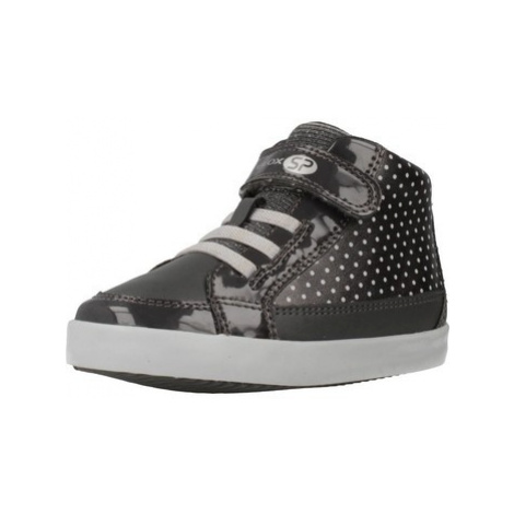 Geox B GISLI GIRL girls's Children's Shoes (High-top Trainers) in Grey