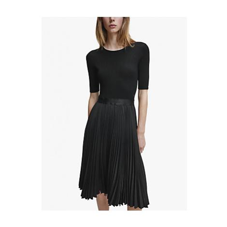 Calvin Klein Pleated Dress, Black