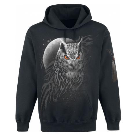 Spiral Wings Of Wisdom Hooded sweater black