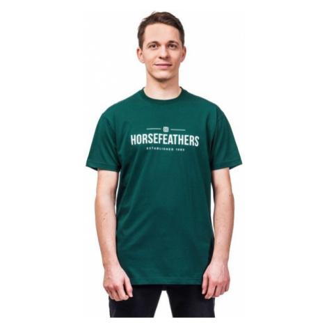 Horsefeathers MELWILL SS T-SHIRT dark green - Men's T-shirt