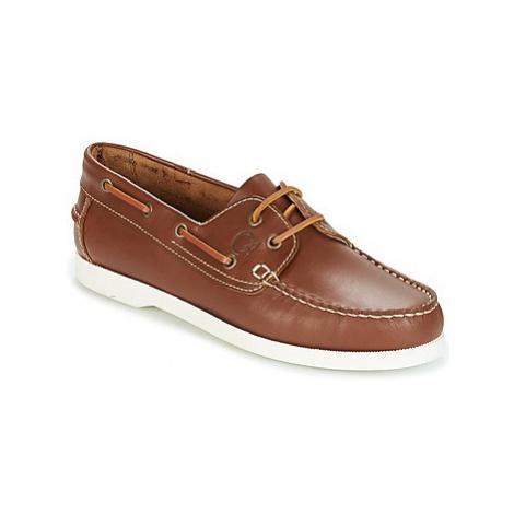 Casual Attitude REVORO men's Boat Shoes in Brown