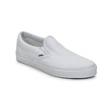 Vans CLASSIC SLIP-ON women's Slip-ons (Shoes) in White