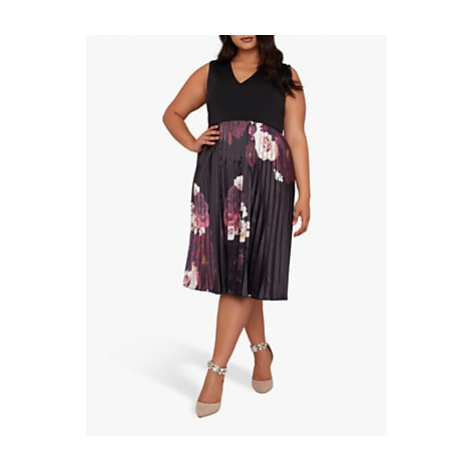 Chi Chi London Curve Arden Dress, Black Multi