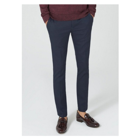 Mens Navy Super Skinny Fit Smart Trousers, Navy Topman