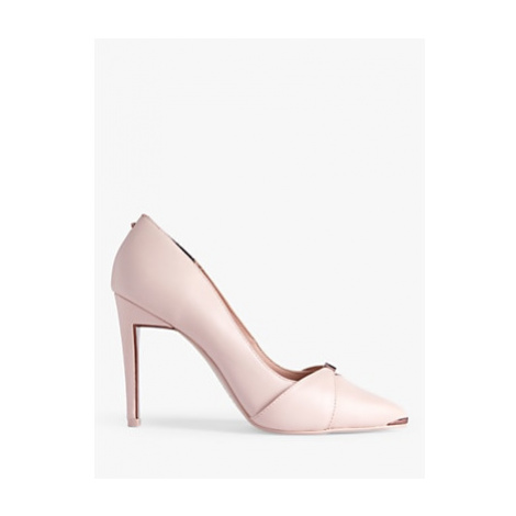 Ted Baker Axealil Leather Stiletto Court Shoes, Pink