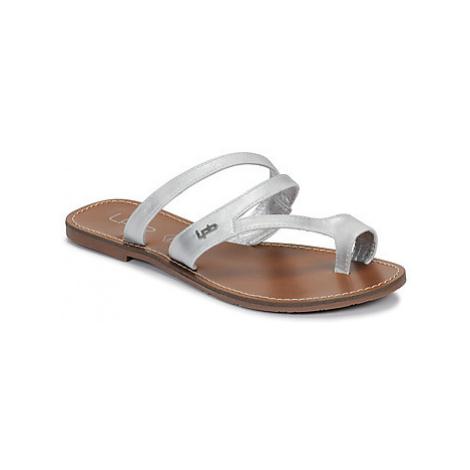 Les Petites Bombes TEXANE women's Flip flops / Sandals (Shoes) in Silver