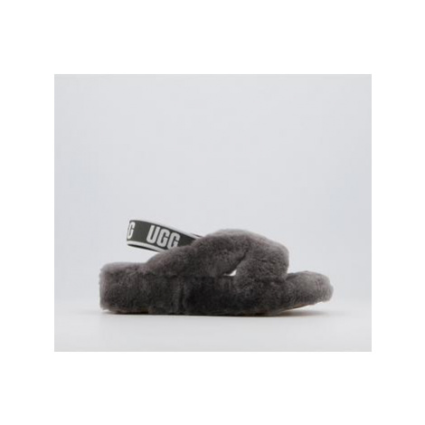 UGG Fab Yeah Slippers CHARCOAL