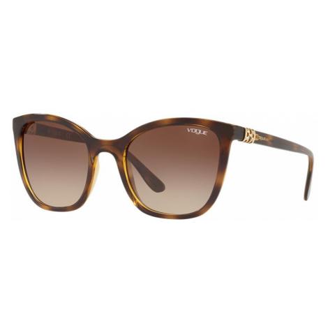 Vogue Eyewear Woman VO5243SB - Frame color: Tortoise, Lens color: Brown, Size 53-21/140