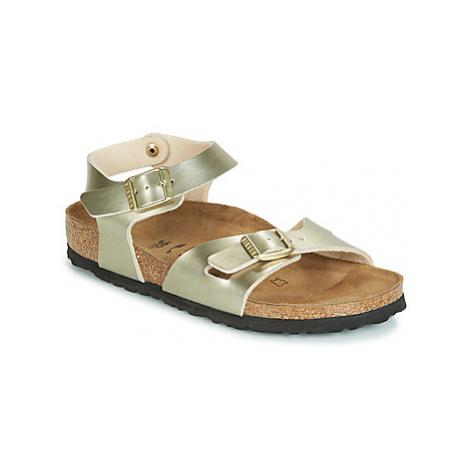 Birkenstock RIO girls's Children's Sandals in Gold