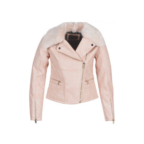 Guess TASHA women's Leather jacket in Pink