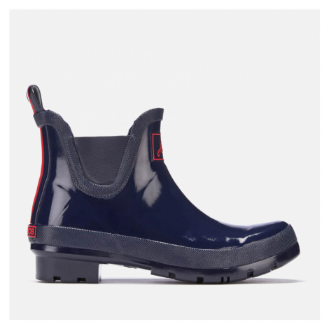 Joules Women's Wellibob Gloss Short Wellies - French Navy - UK Joules Clothing