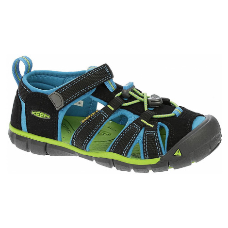 shoes Keen Seacamp II CNX - Black/Blue Danube
