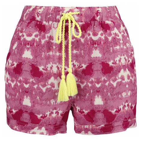 RED by EMP RED X CHIEMSEE - White/Red Batik Shorts Shorts white red