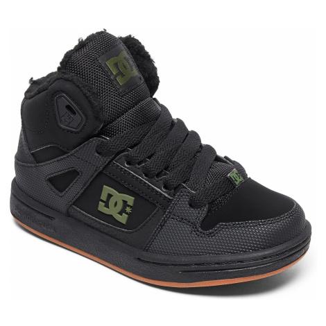 shoes DC Pure High -Top WNT - XKKG/Black/Black/Green - unisex junior