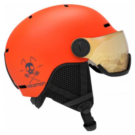 Salomon GROM VISOR - Children's ski helmet