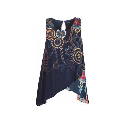 Desigual ARKANSAS women's Vest top in Blue