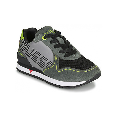 Guess GLORYM JR boys's Children's Shoes (Trainers) in Grey