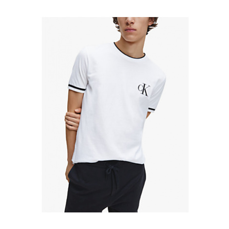 Calvin Klein Jeans Essential Contrast Tipped Tee, Bright White