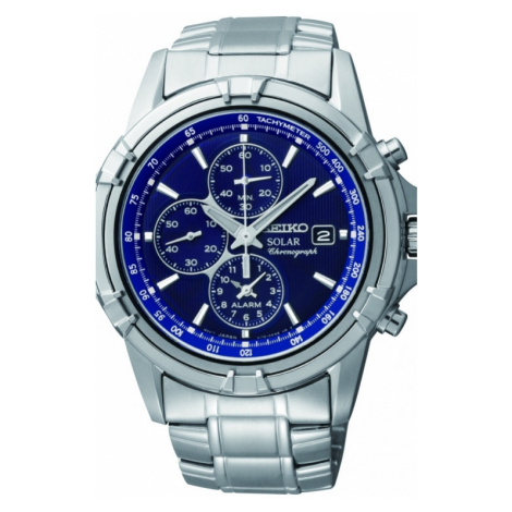 Mens Seiko Alarm Chronograph Solar Powered Watch SSC141P1