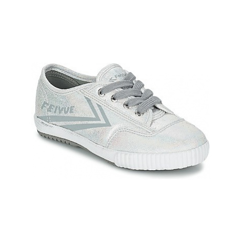 Feiyue FE LO GLITTER girls's Children's Shoes (Trainers) in Silver