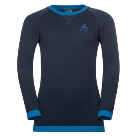 Odlo BL TOP CREW NECK L/S PERFORMANCE WARM KI blue - Children's T-shirt