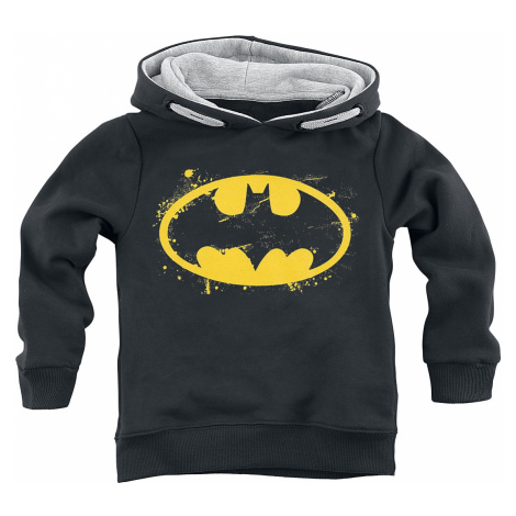 Batman - Spray Logo - Kids Hooded Sweater - black