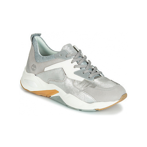 Timberland DELPHIVILLE LEATHER SNEAKER women's Shoes (Trainers) in Silver