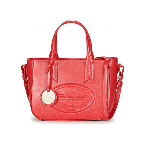 Emporio Armani FRIDA TOTE BAG women's Handbags in Red