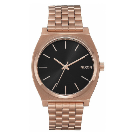 watch Nixon Time Teller - All Rose Gold/Black Sunray