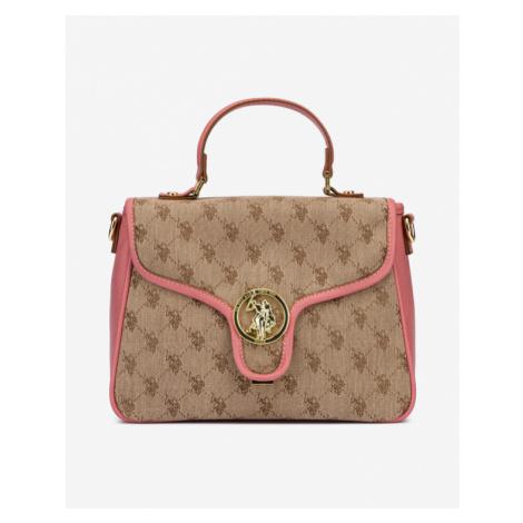 U.S. Polo Assn Lady Lake Handbag Pink Brown