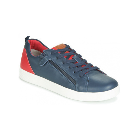 Geox J DJROCK BOY boys's Children's Shoes (Trainers) in Blue