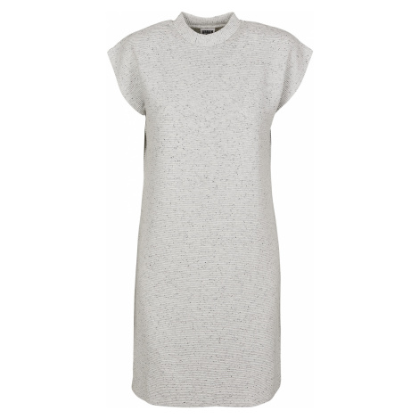 Urban Classics - Ladies Naps Terry Extended Shoulder Dress - Dress - mottled grey