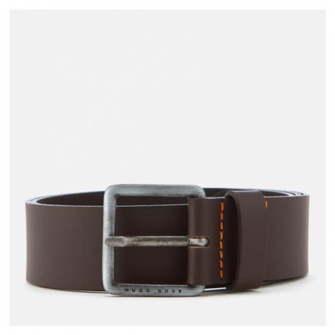 BOSS Men's Jeeko Leather Belt - Dark Brown Hugo Boss