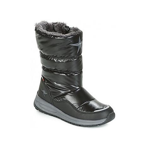 Kangaroos K CONFI RTX girls's Children's Snow boots in Black