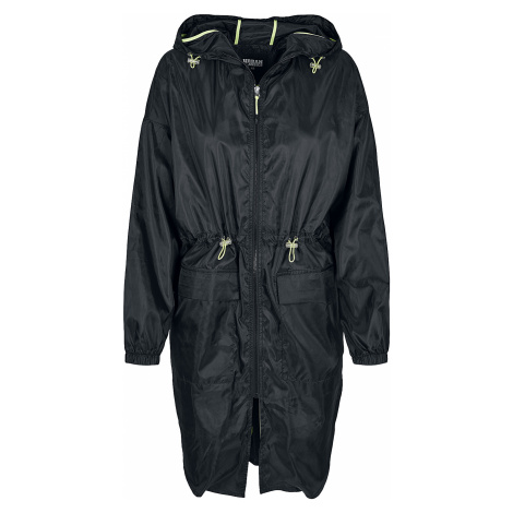 Urban Classics - Ladies Light Parka - Girls coat - black/lime