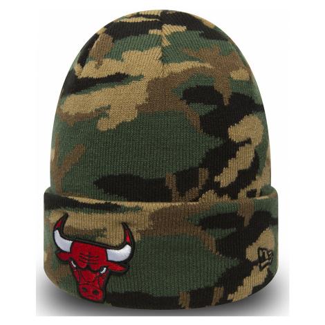 cap New Era Essential Camo Knit NBA Chicago Bulls - Woodland Camo - men´s