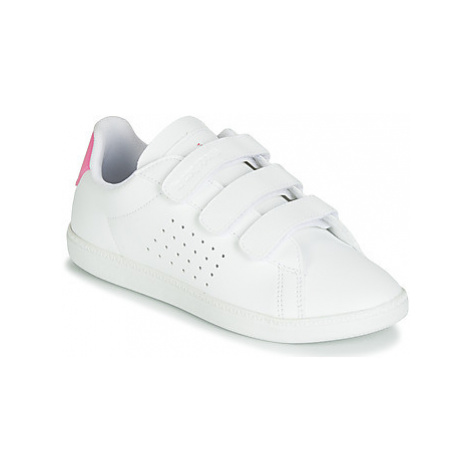 Le Coq Sportif COURTSET PS girls's Children's Shoes (Trainers) in White