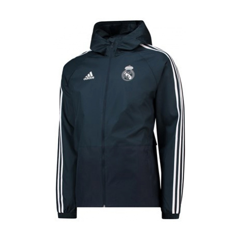 Real Madrid Training Rain Jacket - Dark Grey Adidas