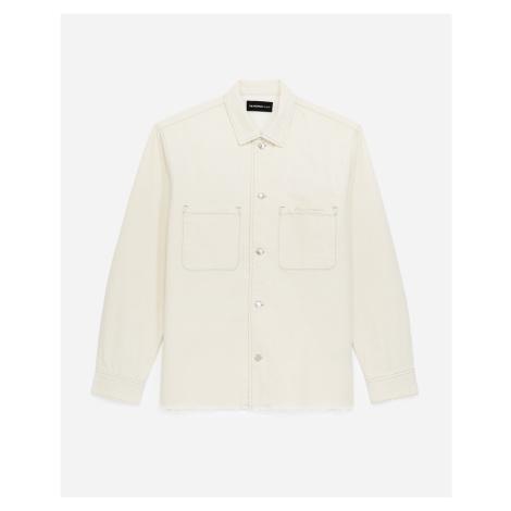 The Kooples - Roomy ecru denim shirt - MEN