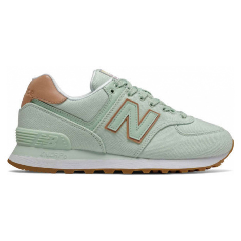New Balance WL574SCD green - Women's leisure shoes