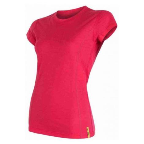 Sensor MERINO ACTIVE red - Women's functional T-shirt
