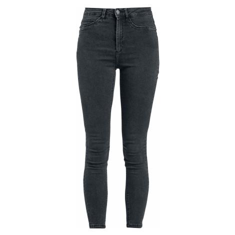 Noisy May Callie HW Skinny Jeans Jeans dark grey