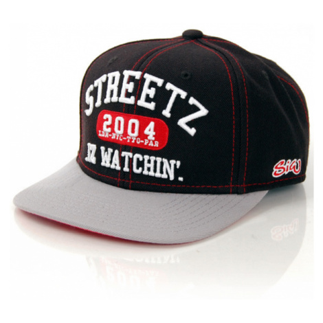 Streetz Iz Watchin College Snapback Black Grey Starter