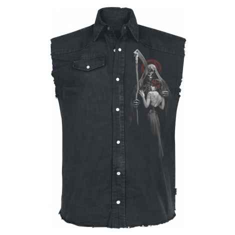 Spiral - Dead Kiss - Sleeveless workershirt - black